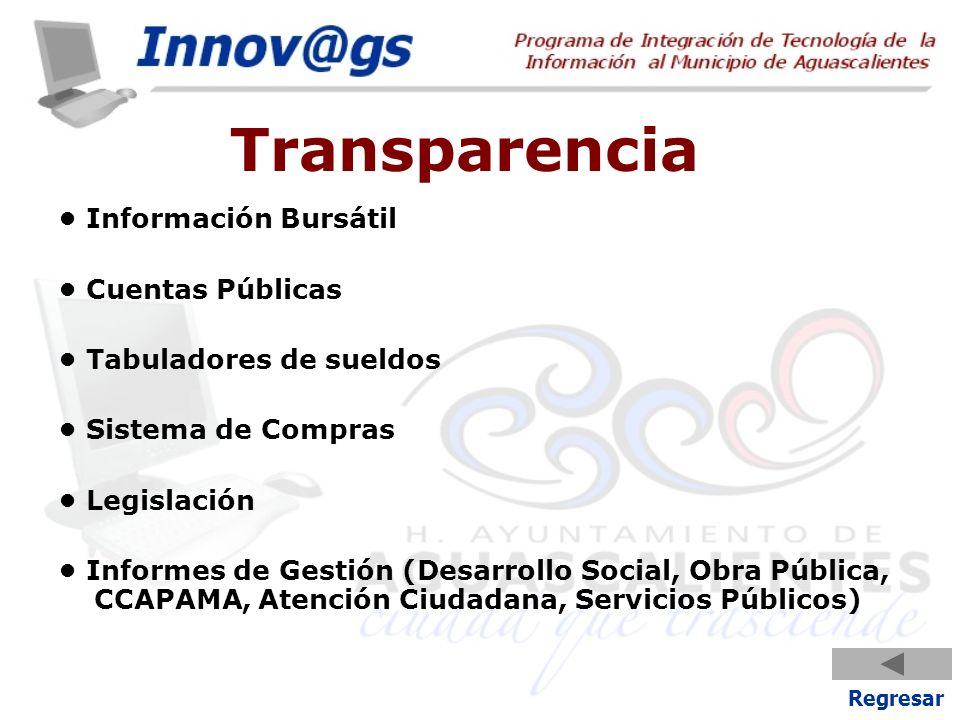 Transparencia • Información Bursátil • Cuentas Públicas