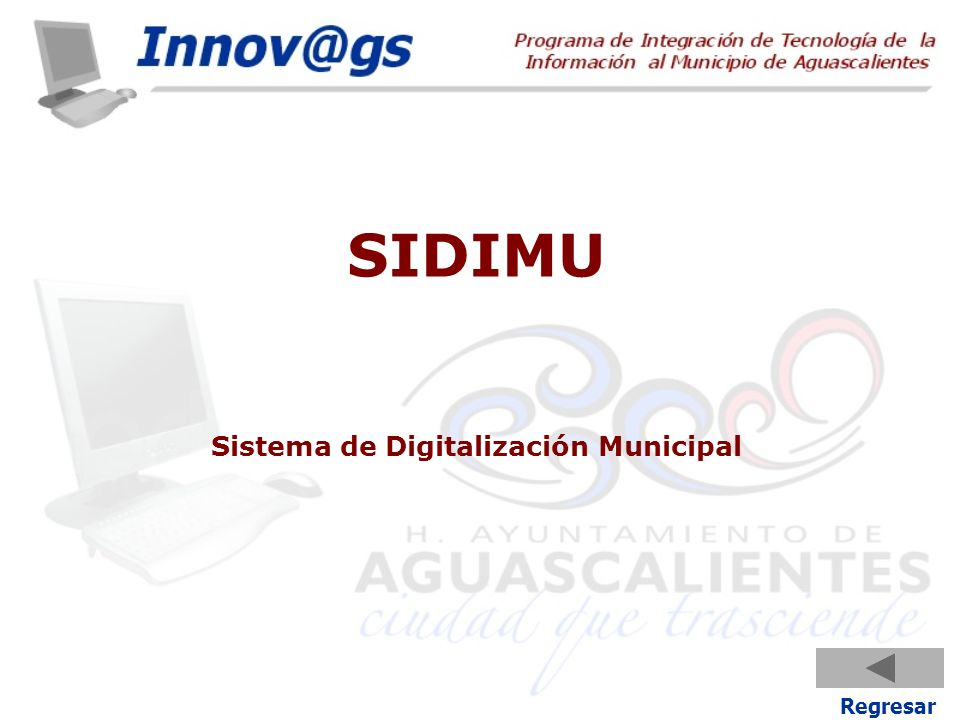 SIDIMU Sistema de Digitalización Municipal