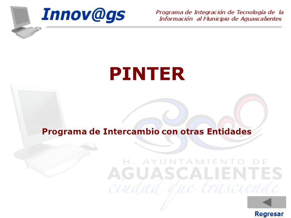 PINTER Programa de Intercambio con otras Entidades