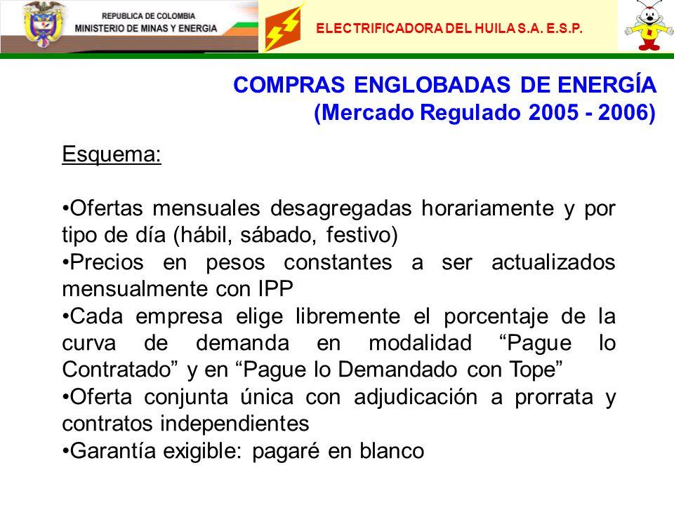 COMPRAS ENGLOBADAS DE ENERGÍA (Mercado Regulado 2005 - 2006)