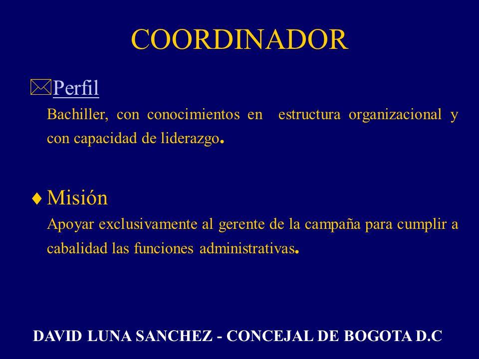 COORDINADOR Perfil Misión