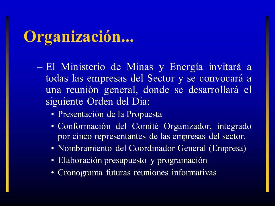 Organización...