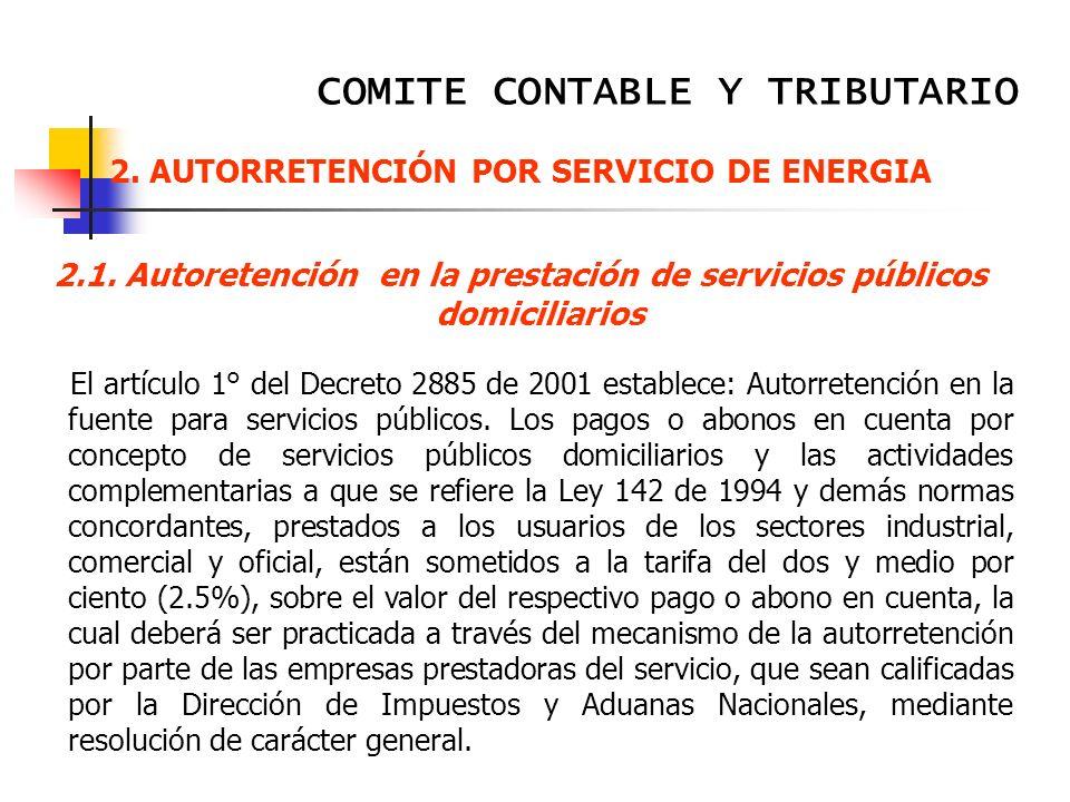 AUTORRETENCIÓN POR SERVICIO DE ENERGIA