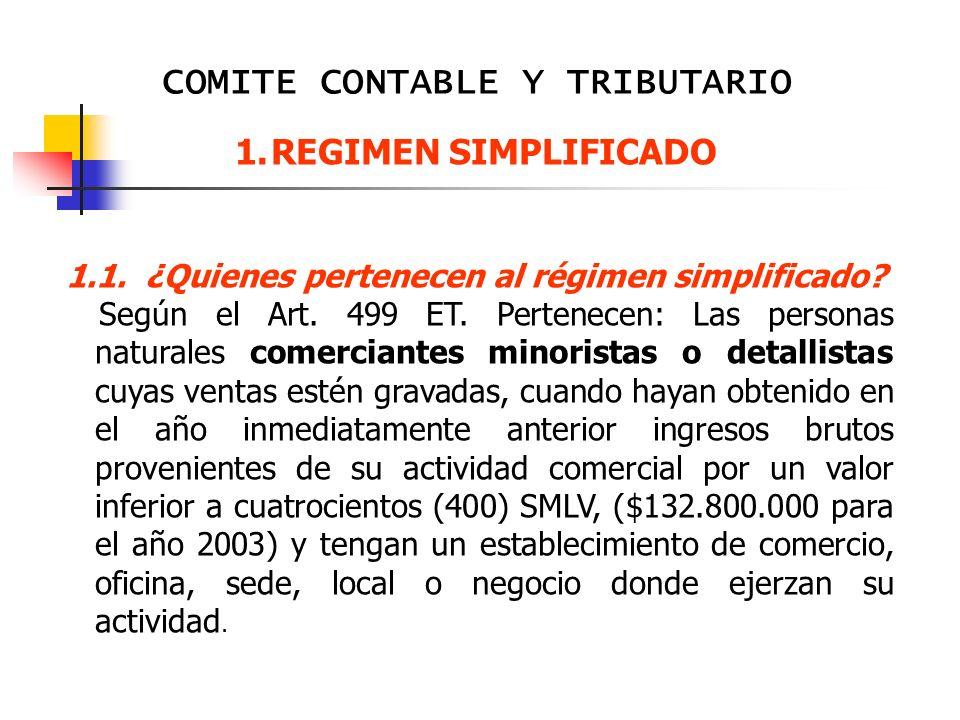 1.1. ¿Quienes pertenecen al régimen simplificado