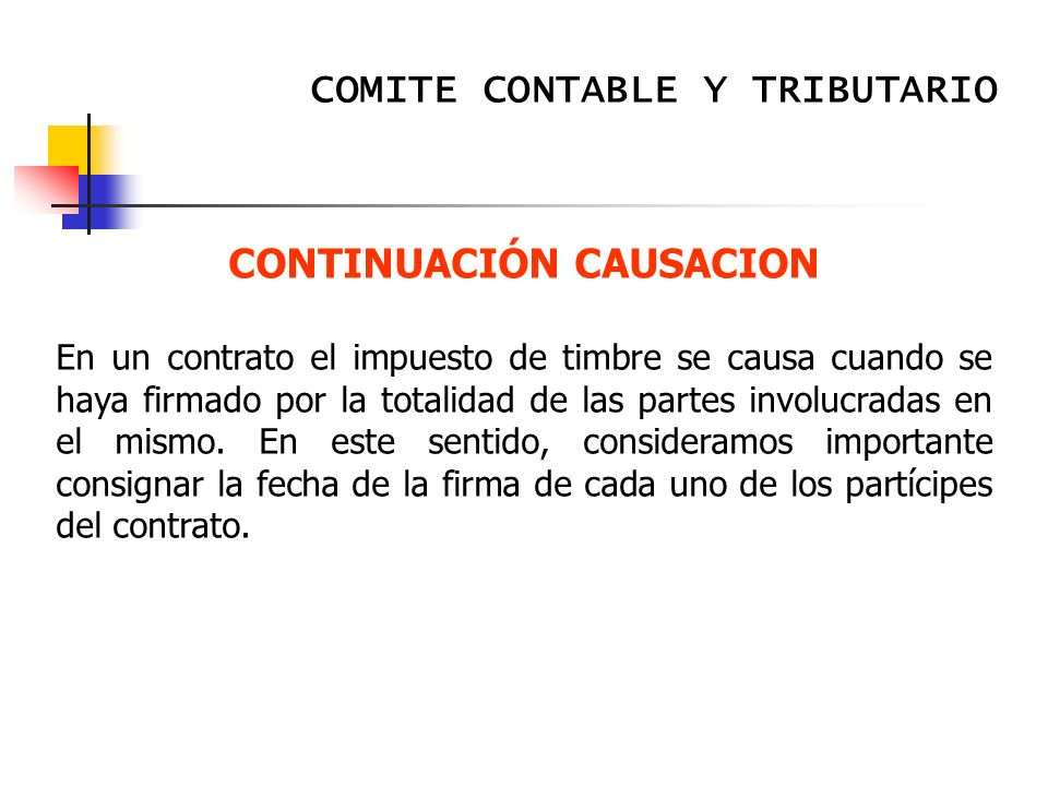 CONTINUACIÓN CAUSACION