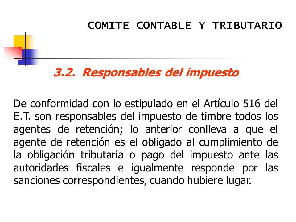 3.2. Responsables del impuesto