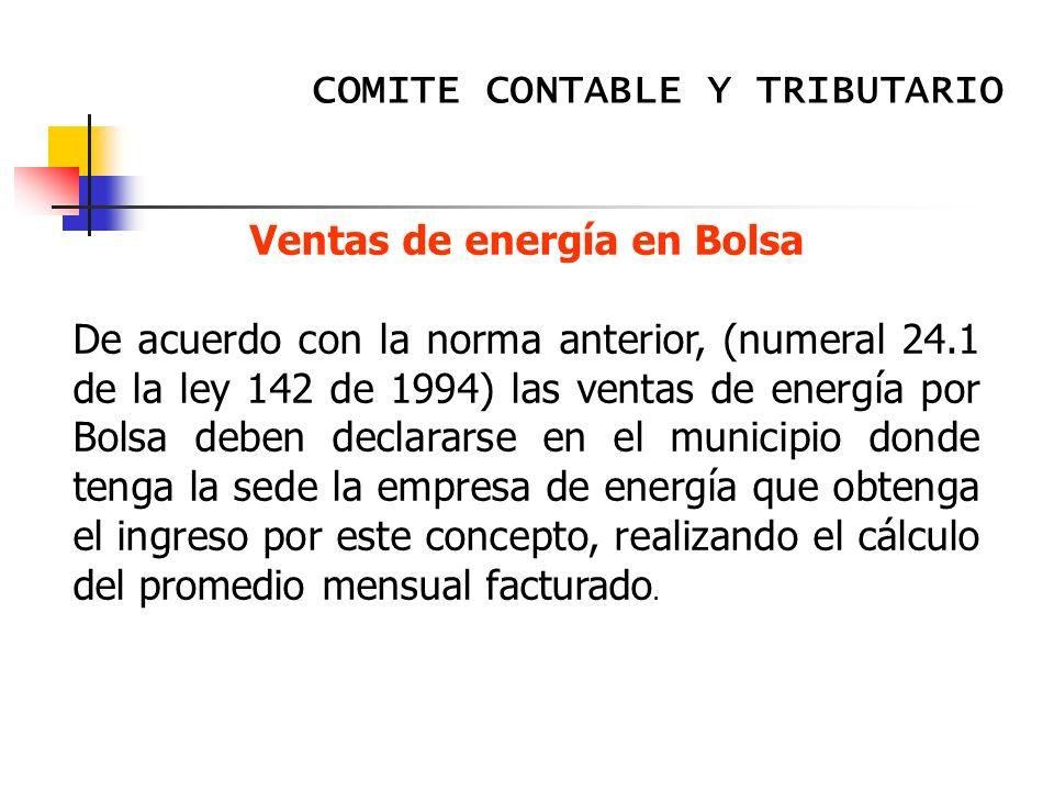 Ventas de energía en Bolsa