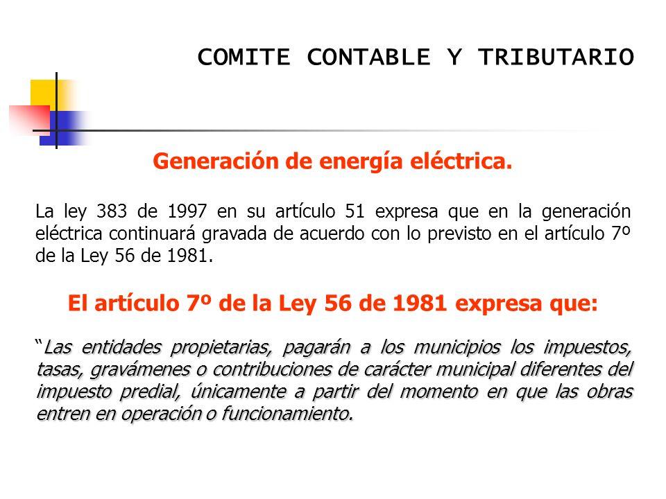 Generación de energía eléctrica.