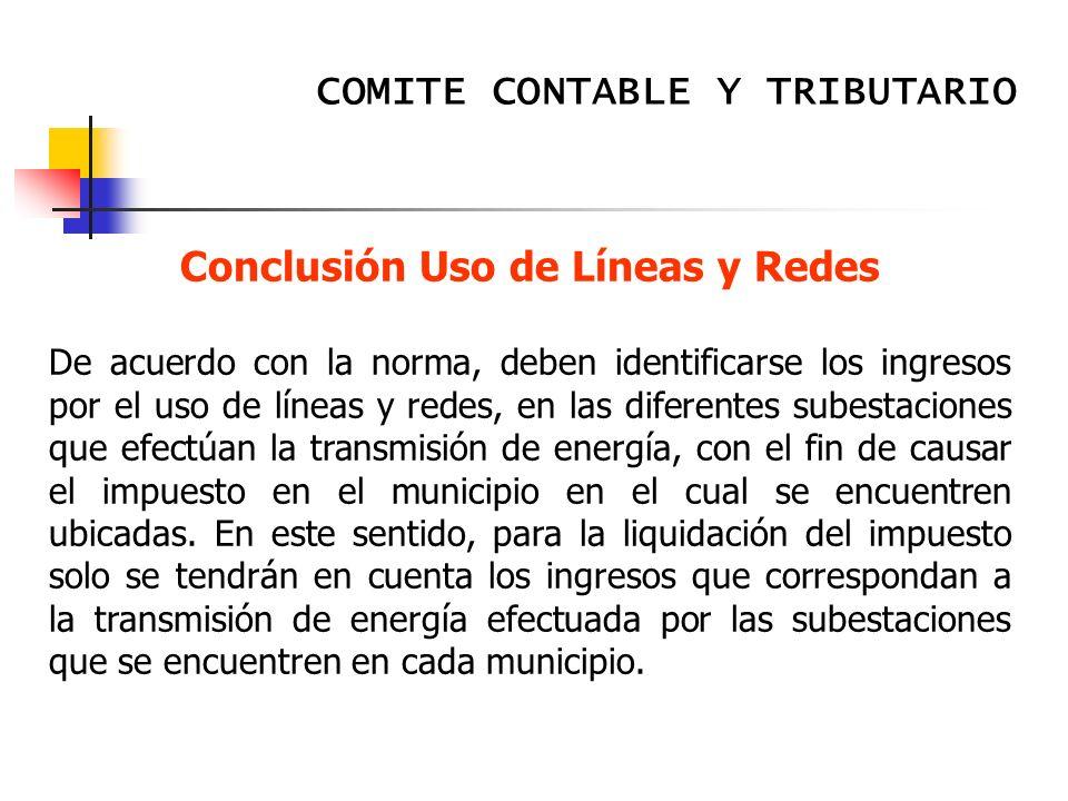 Conclusión Uso de Líneas y Redes