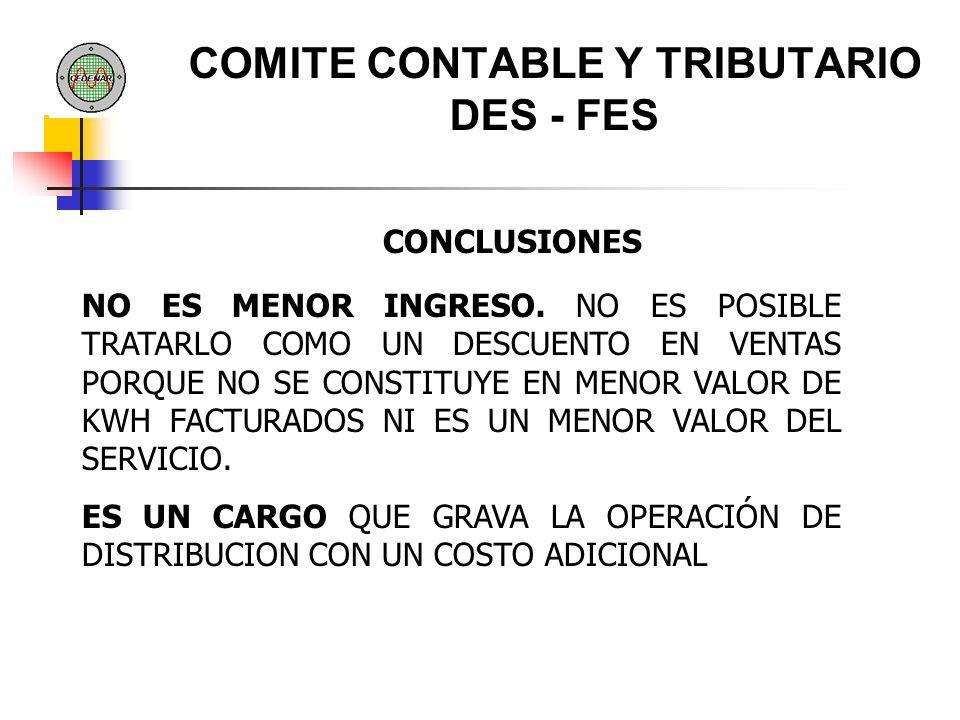 COMITE CONTABLE Y TRIBUTARIO DES - FES