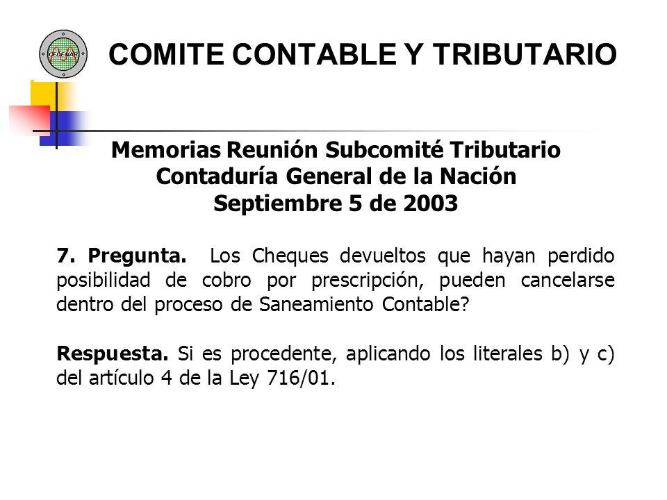 COMITE CONTABLE Y TRIBUTARIO