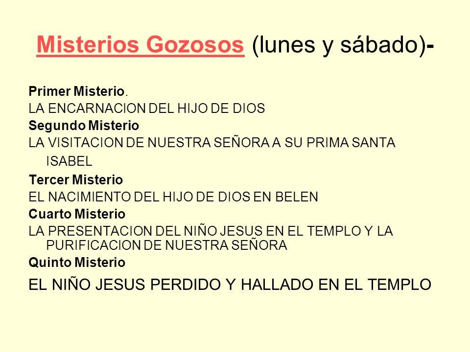 Misterios Gozosos (lunes y sábado)-