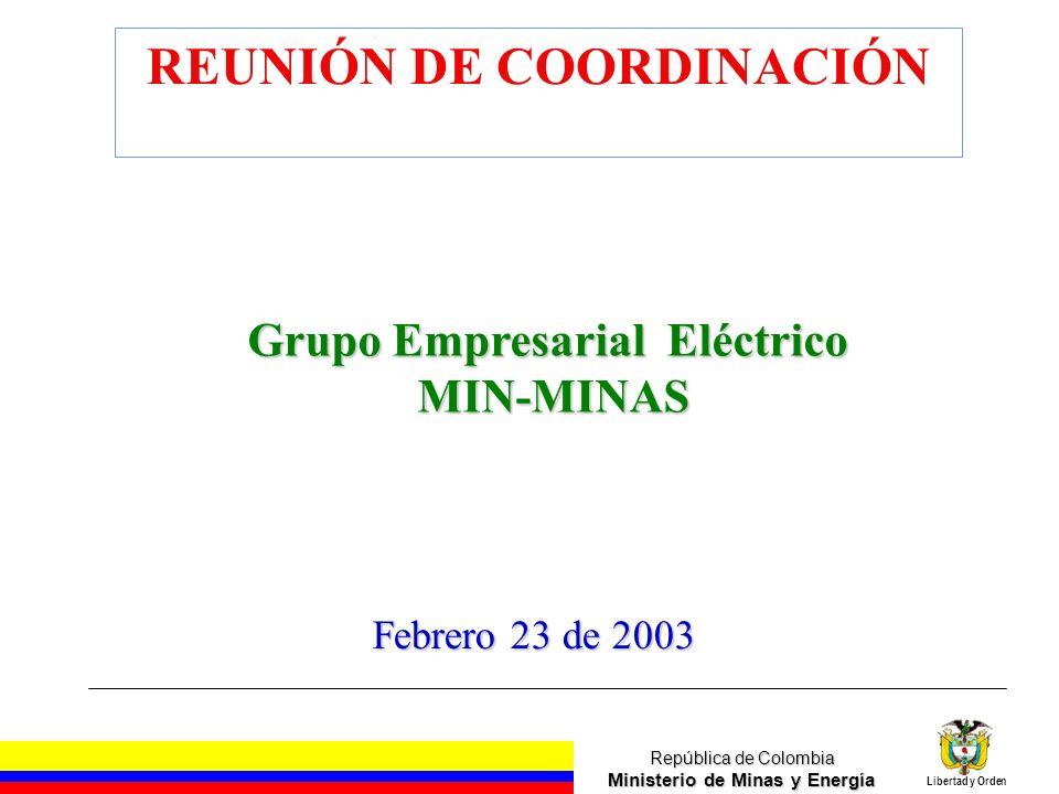REUNIÓN DE COORDINACIÓN Grupo Empresarial Eléctrico