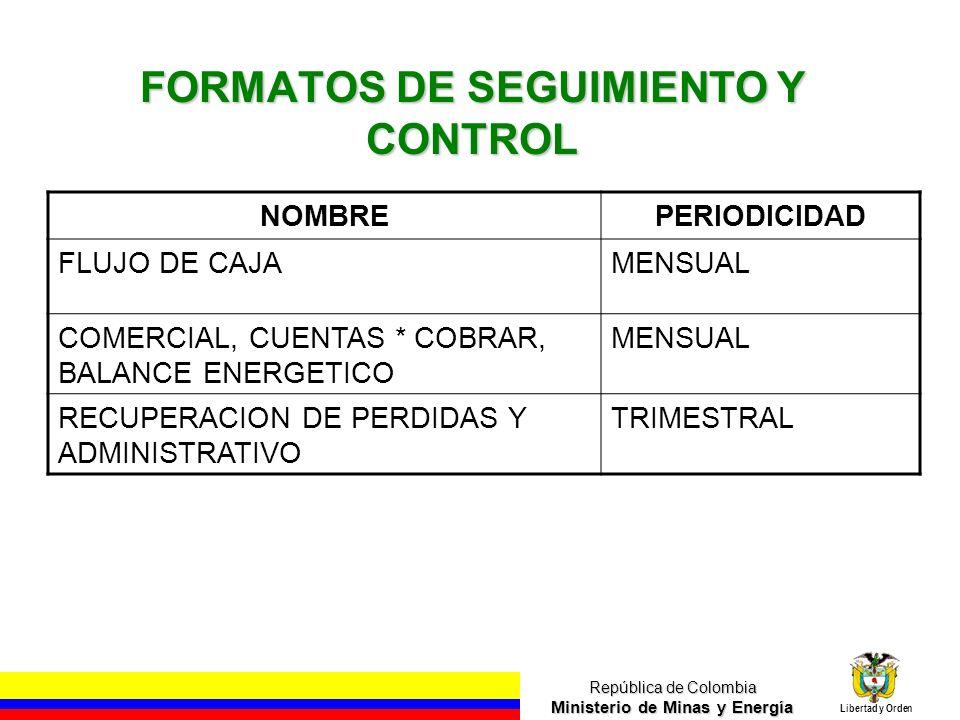 FORMATOS DE SEGUIMIENTO Y CONTROL