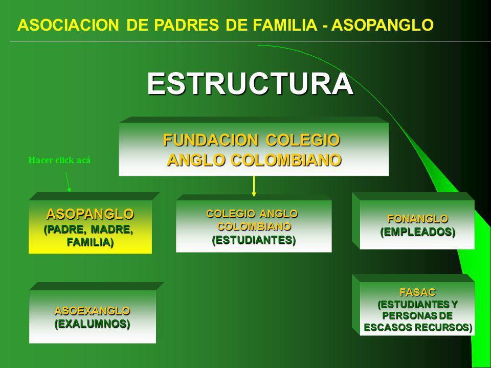 ESTRUCTURA ASOCIACION DE PADRES DE FAMILIA - ASOPANGLO
