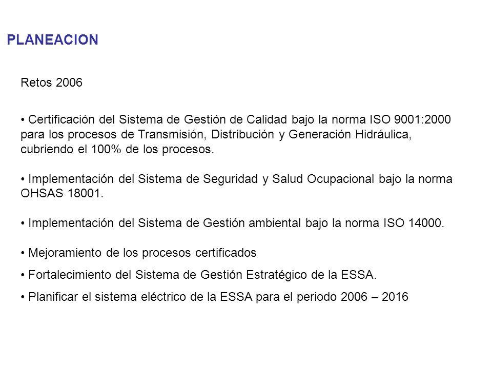 PLANEACIONRetos 2006.