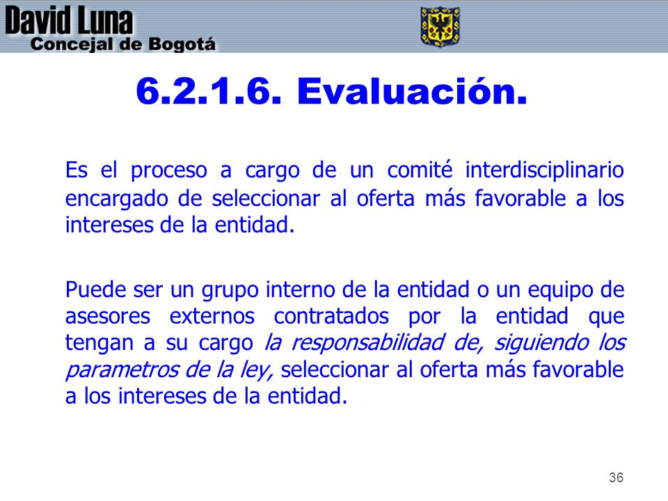 6.2.1.6. Evaluación.