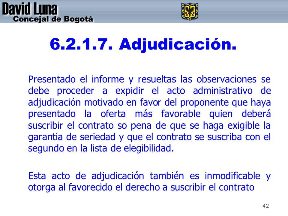 6.2.1.7. Adjudicación.