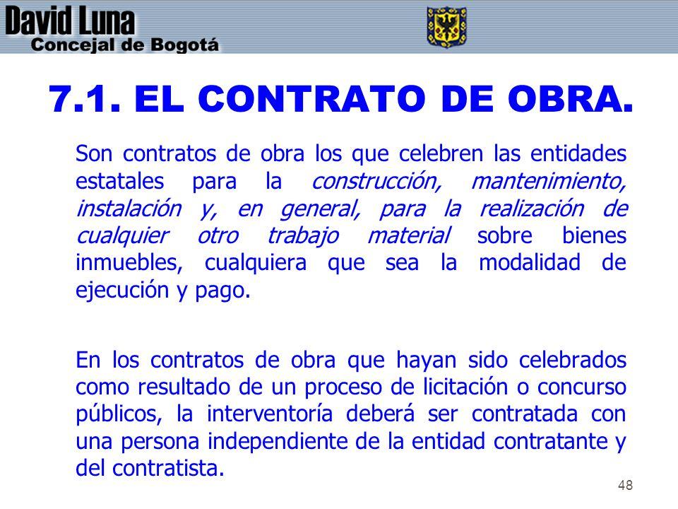 7.1. EL CONTRATO DE OBRA.