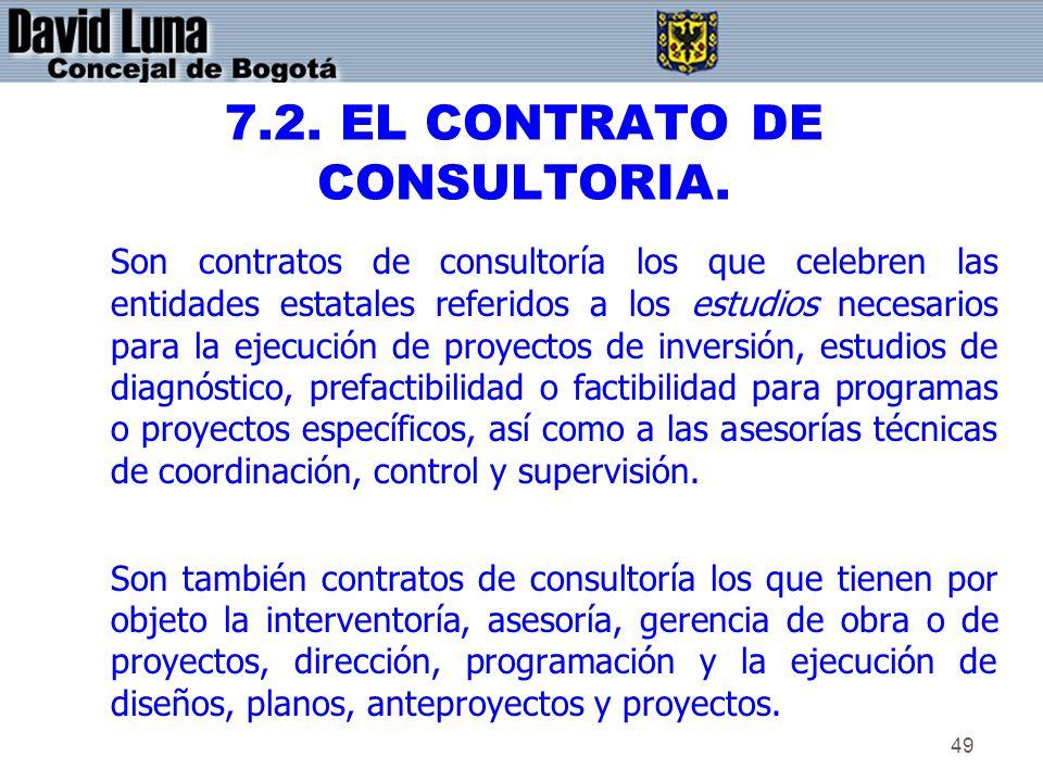 7.2. EL CONTRATO DE CONSULTORIA.