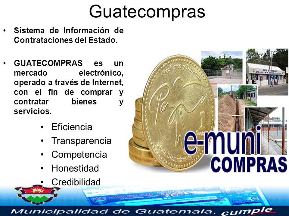 Guatecompras Eficiencia Transparencia Competencia Honestidad