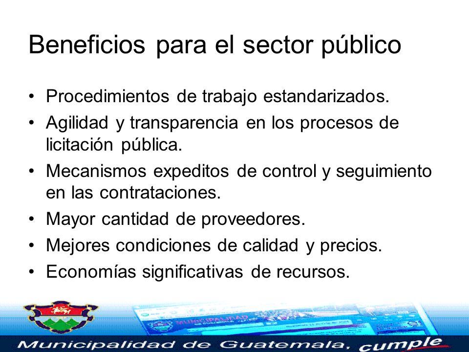 Beneficios para el sector público