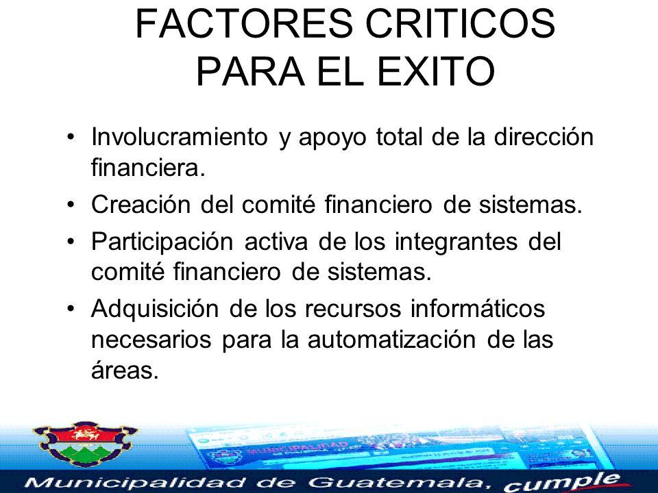 FACTORES CRITICOS PARA EL EXITO