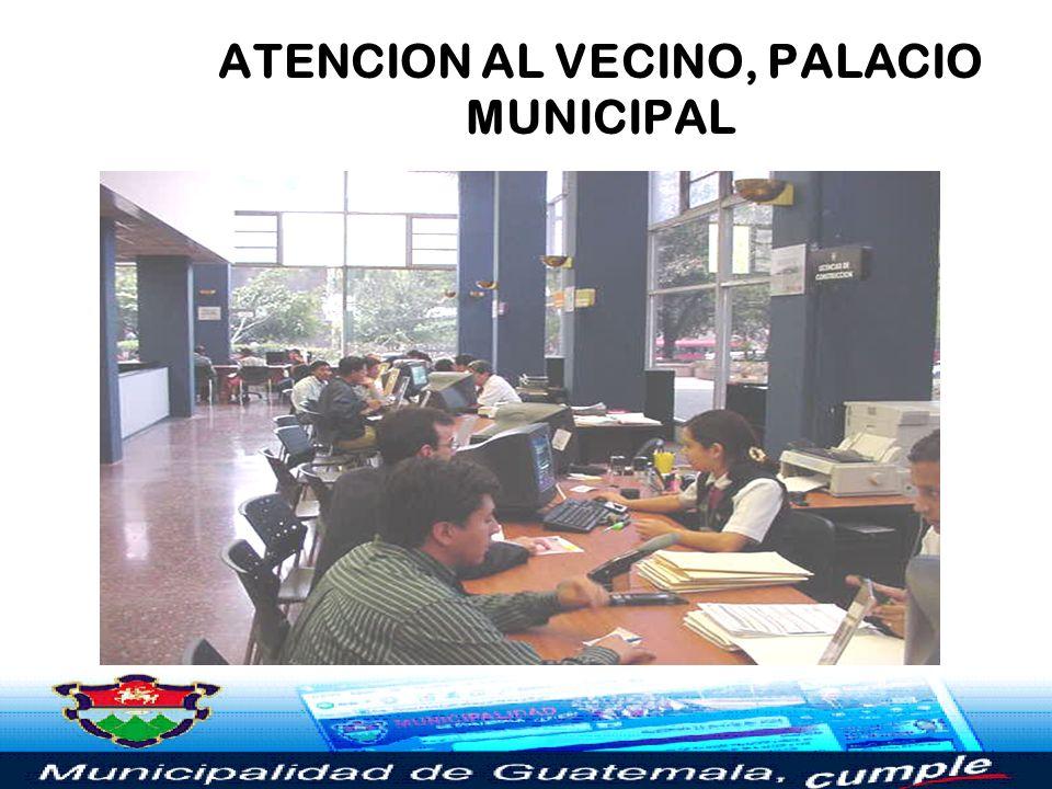 ATENCION AL VECINO, PALACIO MUNICIPAL