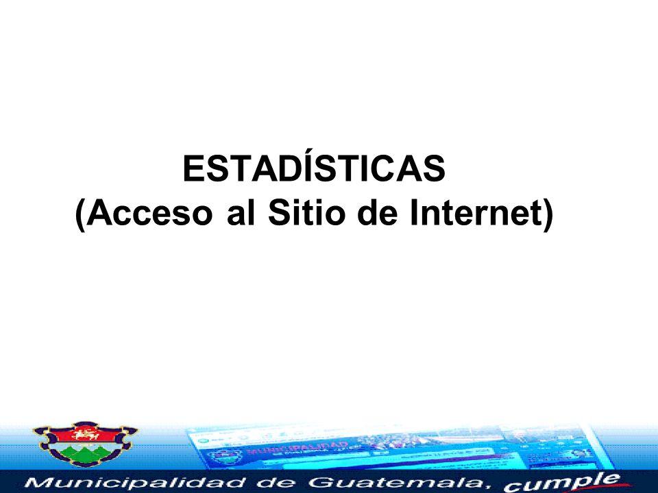 ESTADÍSTICAS (Acceso al Sitio de Internet)