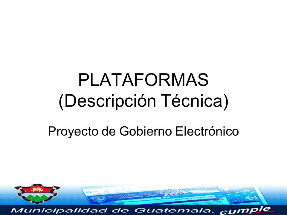 PLATAFORMAS (Descripción Técnica)
