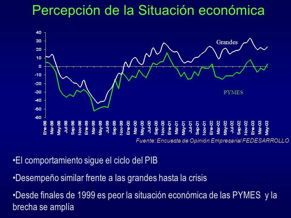 Percepción de la Situación económica