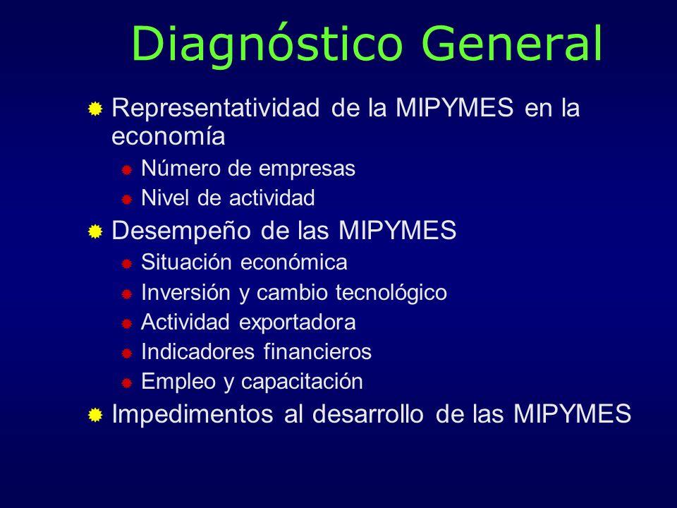 Diagnóstico General Representatividad de la MIPYMES en la economía