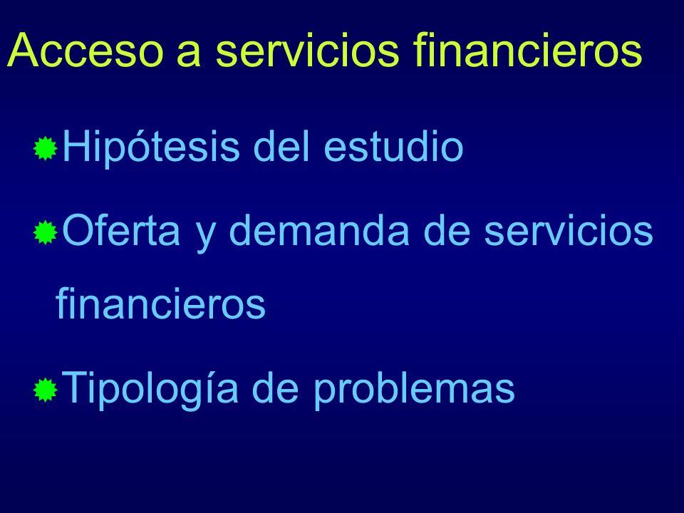 Acceso a servicios financieros