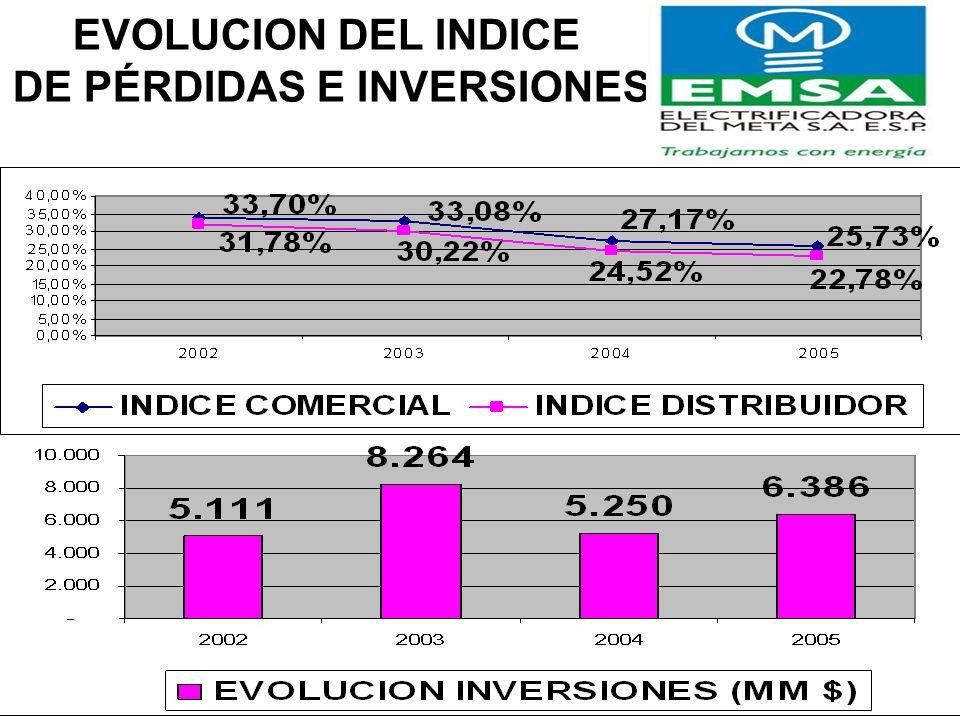 DE PÉRDIDAS E INVERSIONES