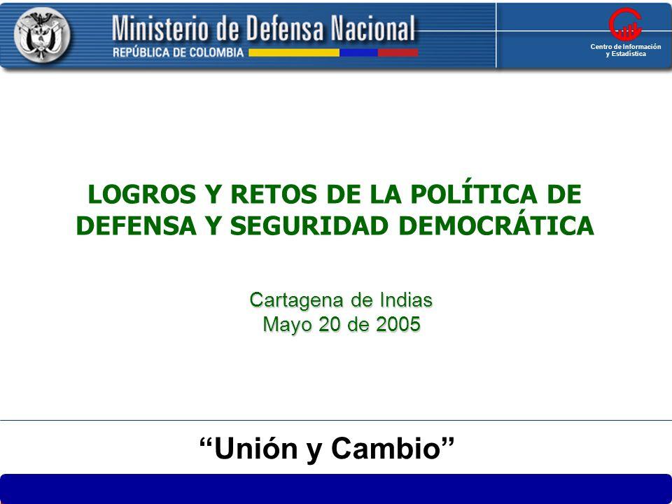 Centro de Información y Estadística. LOGROS Y RETOS DE LA POLÍTICA DE DEFENSA Y SEGURIDAD DEMOCRÁTICA.
