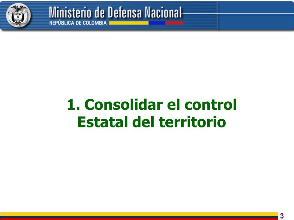 1. Consolidar el control Estatal del territorio