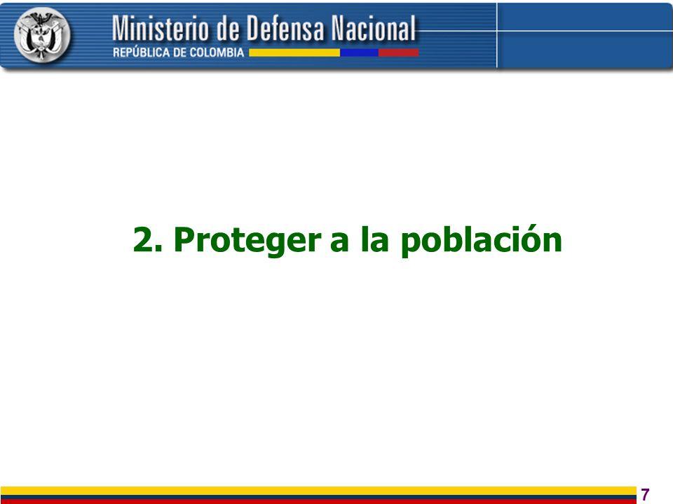 2. Proteger a la población