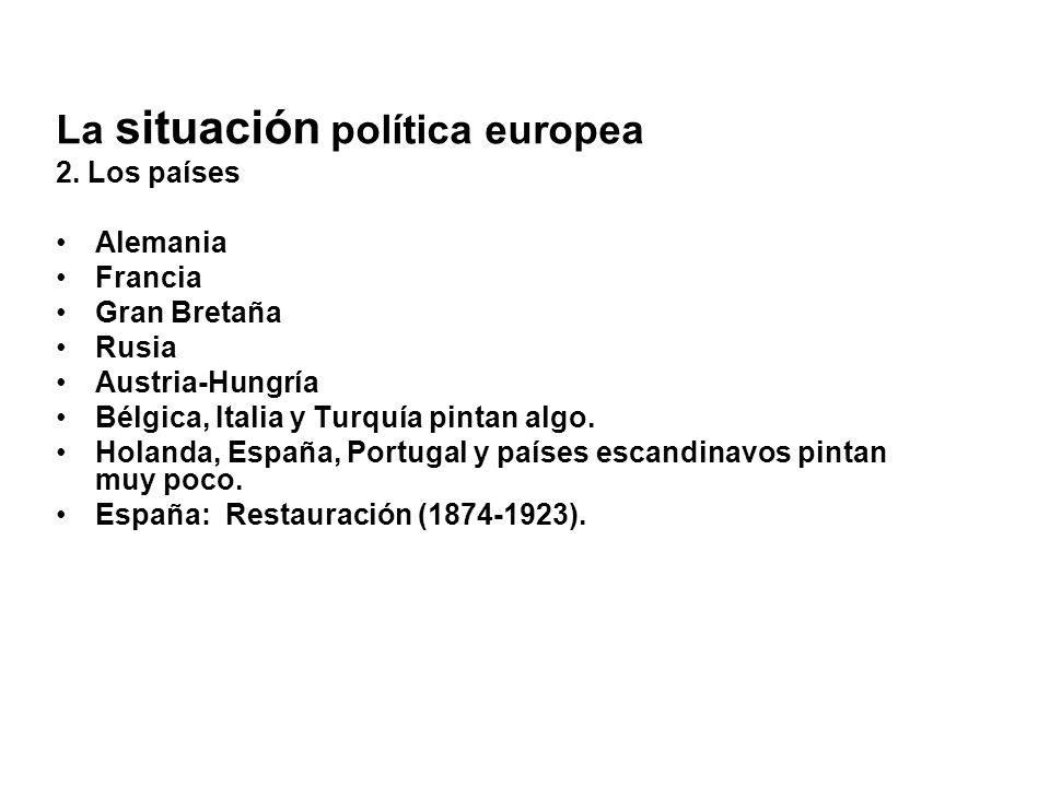 La situación política europea