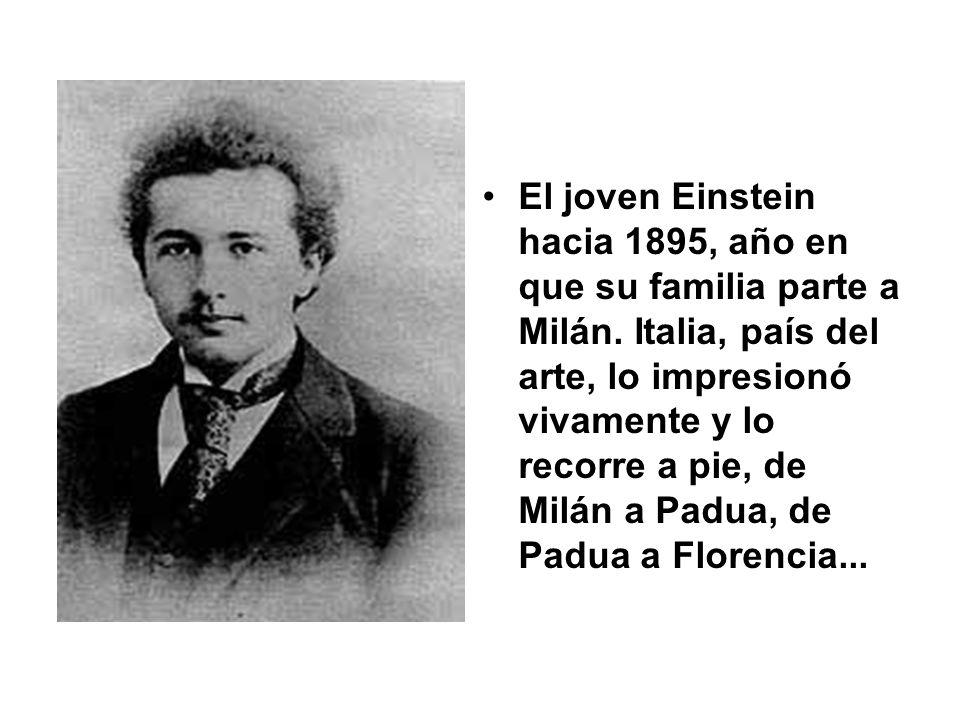 El joven Einstein hacia 1895, año en que su familia parte a Milán