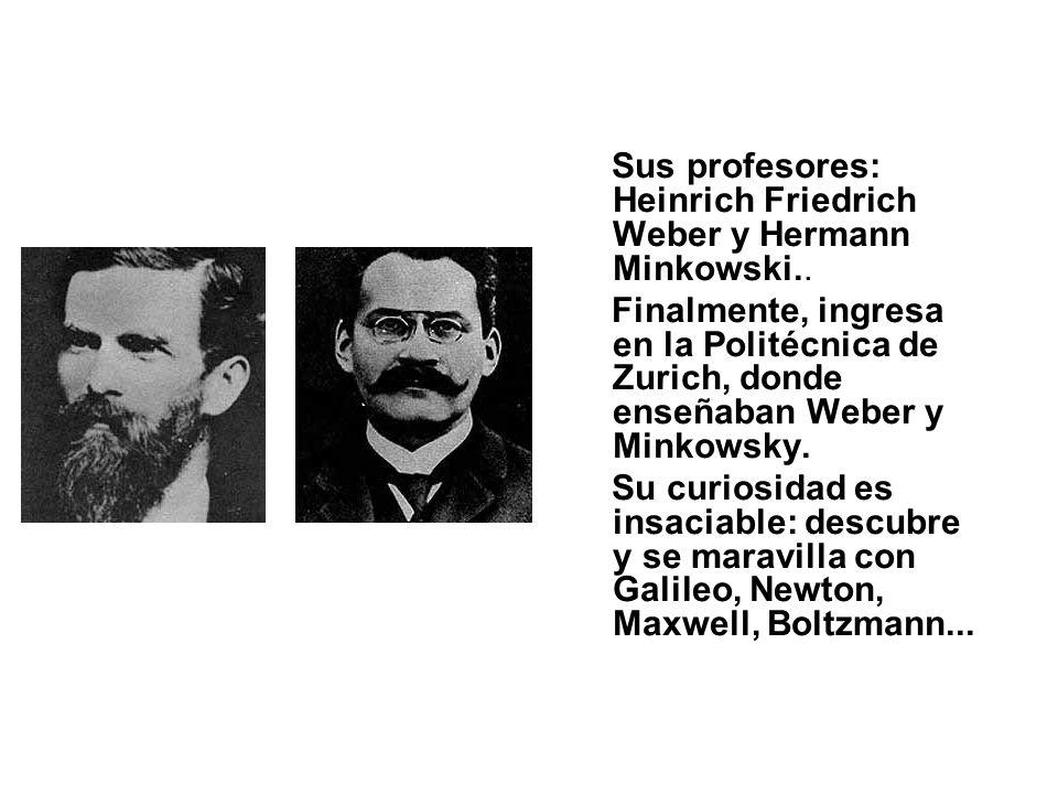 Sus profesores: Heinrich Friedrich Weber y Hermann Minkowski..