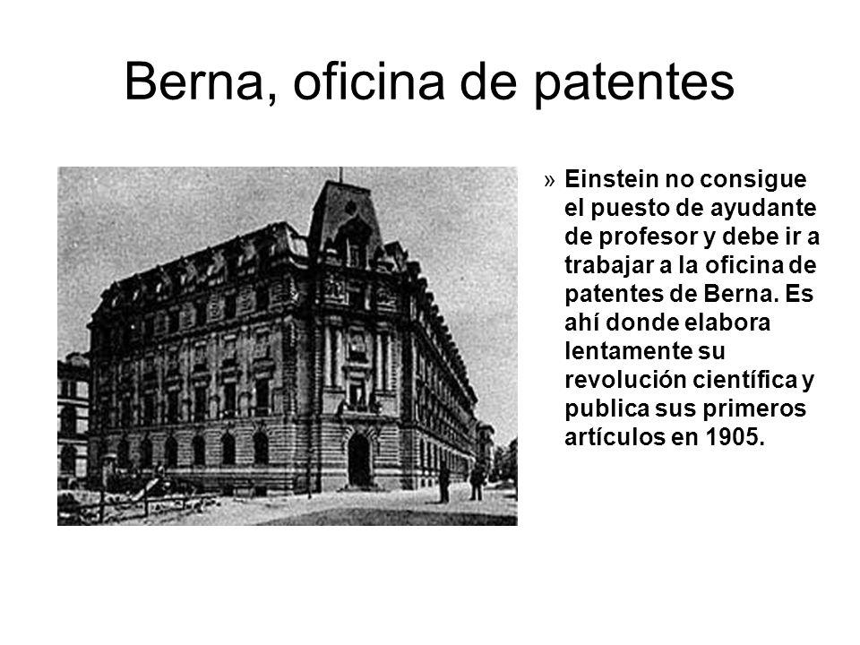 Albert einstein su vida y su contexto hist rico ppt for Oficina de patentes