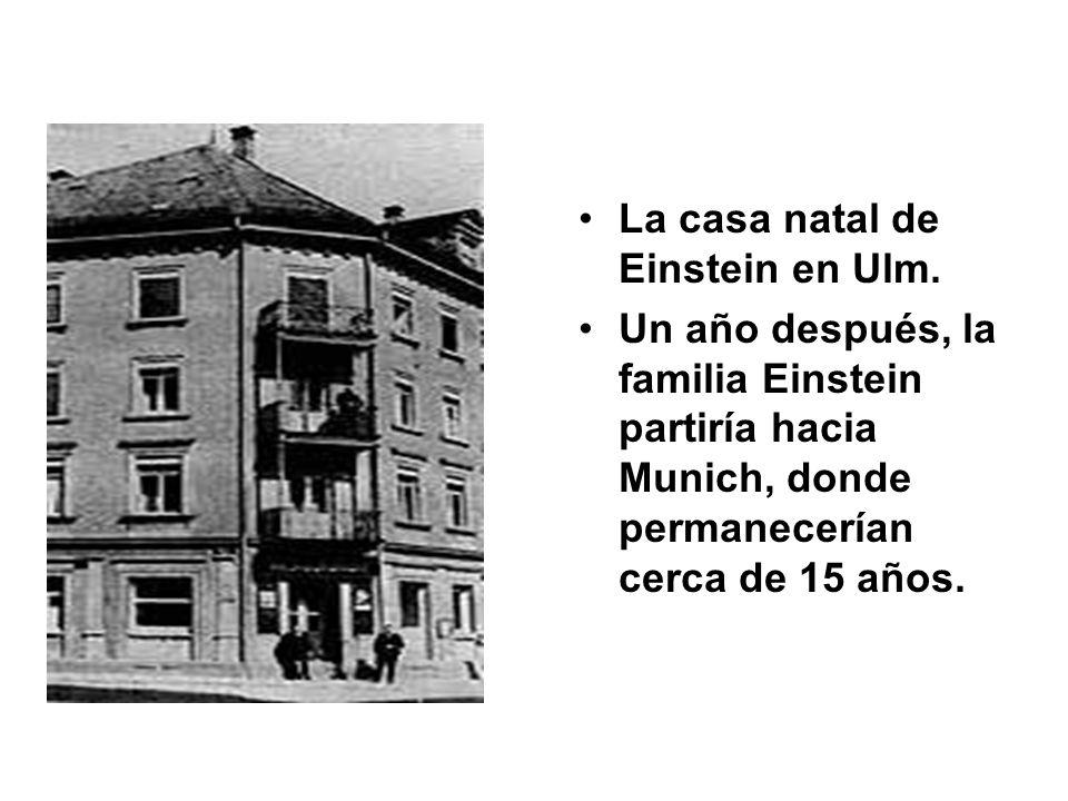 La casa natal de Einstein en Ulm.