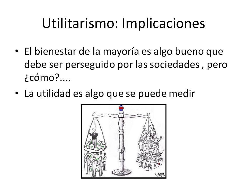 Utilitarismo: Implicaciones