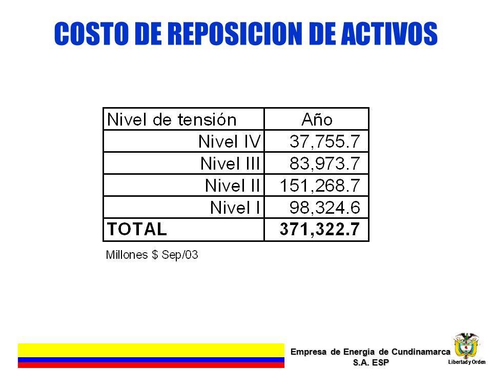 COSTO DE REPOSICION DE ACTIVOS