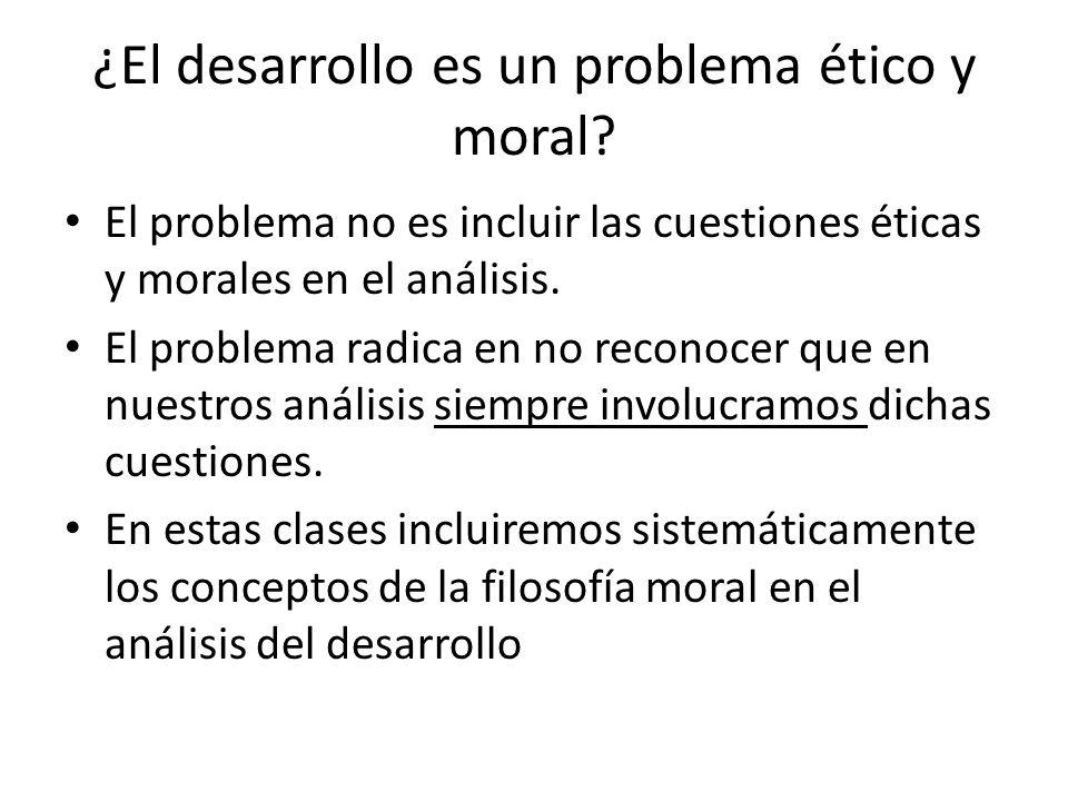 ¿El desarrollo es un problema ético y moral