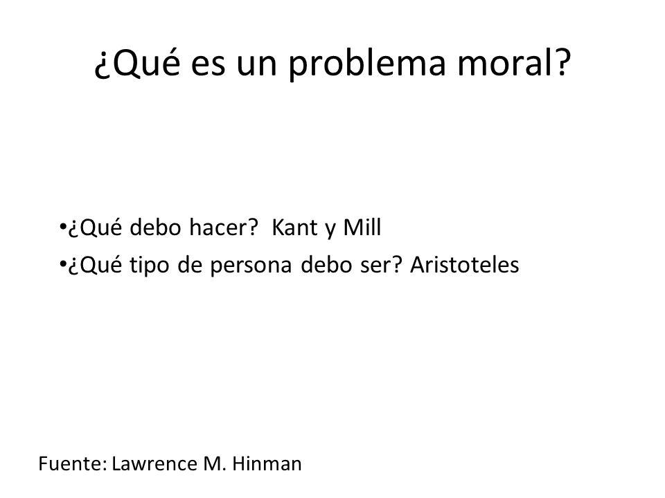 ¿Qué es un problema moral