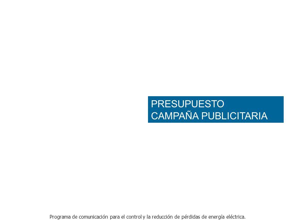 PRESUPUESTO CAMPAÑA PUBLICITARIA