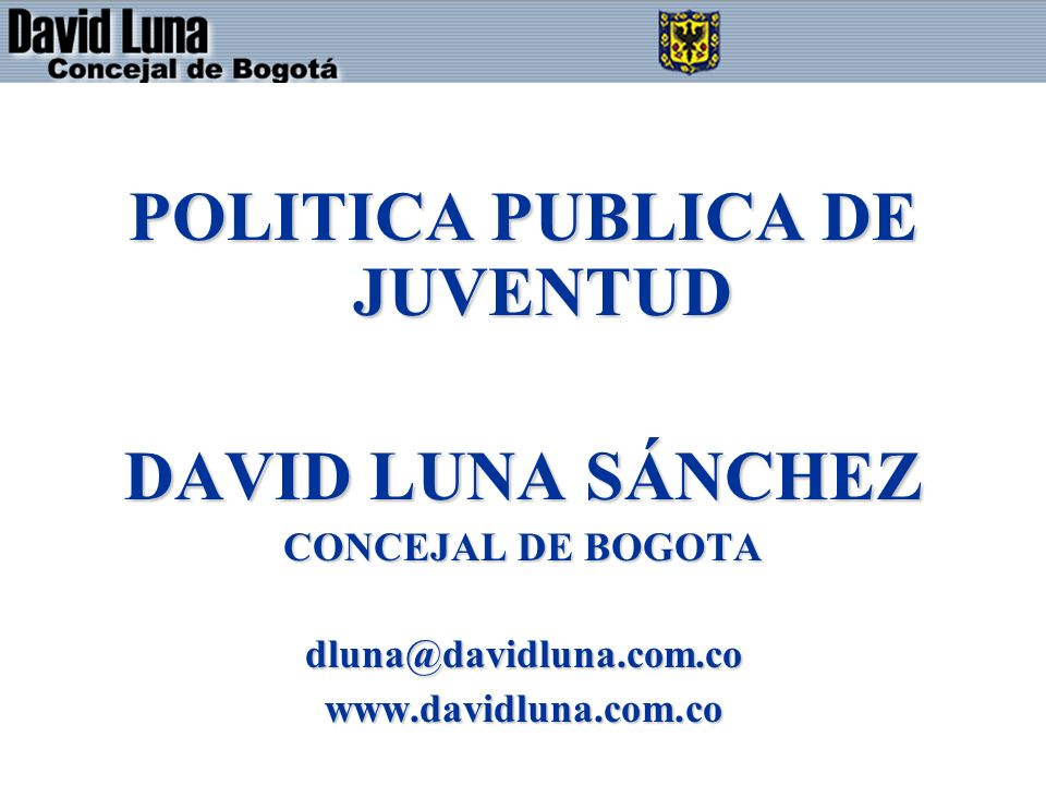 POLITICA PUBLICA DE JUVENTUD
