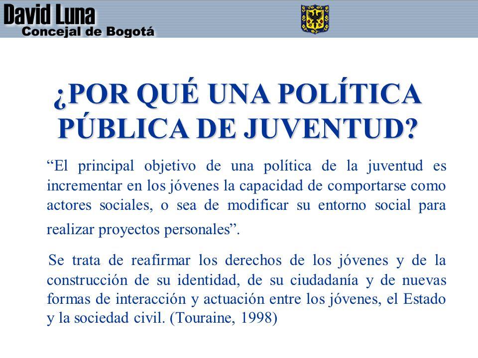 ¿POR QUÉ UNA POLÍTICA PÚBLICA DE JUVENTUD