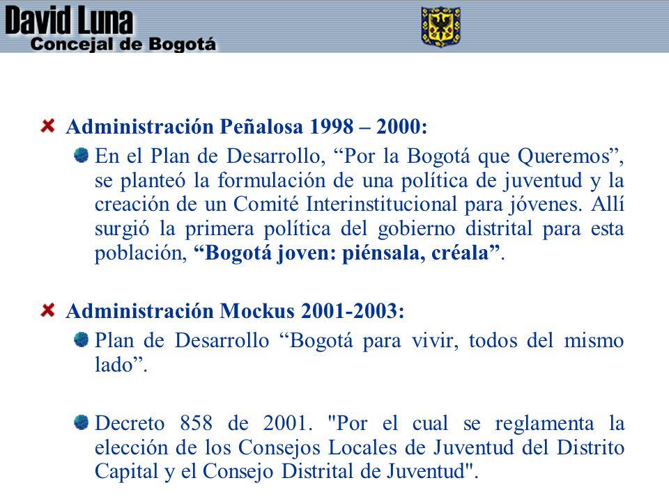 Administración Peñalosa 1998 – 2000: